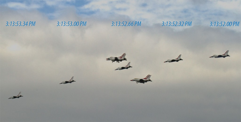 USAF Thunderbirds with the Sub Sec Data